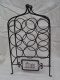 Wrought Iron 9 Bottle wine Rack Château Bordeaux